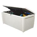 Pool box műanyag kerti láda 500L - fehér