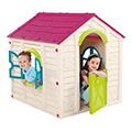 Rancho playhouse műanyag kerti játékház - ekrü - lila