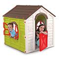 Rancho playhouse műanyag kerti játékház - világos zöld - barna