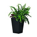 Rattan planter s műrattan virágláda 23,6L - antracit