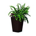 Rattan planter s műrattan virágláda 23,6L - whiskey barna