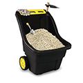 Super pro műanyag kerti talicska 150L - fekete - yellow