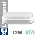 Kültéri opál mennyezeti LED lámpa ovál (12 Watt) - term. fehér