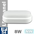 Kültéri opál mennyezeti LED lámpa ovál (8 Watt) - term. fehér