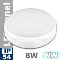 Kültéri opál mennyezeti LED lámpa kör (8 Watt) - term. fehér