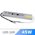 Vízálló LED tápegység 12 Volt (45W/3.75A) IP65