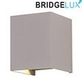 Pegasi kültéri lámpatest, szürke, négyzet (6 Watt BL)