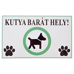 -Kutyabarát hely, PVC tábla (40x25 cm)