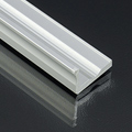 Type-F Aluminium L profil ezüst, LED szalaghoz, 16x10 mm  üvegpolc világítás