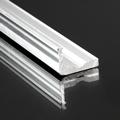 Type-F Aluminium L profil nyers, LED szalaghoz, 16x10 mm üvegpolc világítás