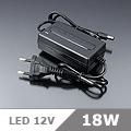 LED Adapter 12 Volt, dugvillás, (1.5A/18W) OP