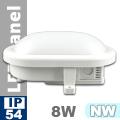 LED hajólámpa IP54 - ovál (8 Watt) - természetes fehér
