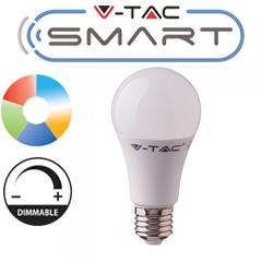 LED lámpa E27 (10W/200°) Körte - FullColor (RGB+CCT - Smart Light mobilos)