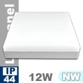 Kültéri mennyezeti LED lámpa négyzet (12 Watt) - term. fehér