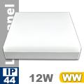 Kültéri mennyezeti LED lámpa négyzet (12 Watt) - meleg fehér