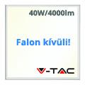 LED panel (600 x 600mm) 40W - természetes fehér, süllyeszthető / falon kívüli (100+lm/W) A+