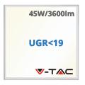 LED panel (600 x 600mm) 45W - természetes fényű UGR<19