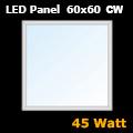 LED panel (600 x 600 mm) 45 Watt - hideg fehér