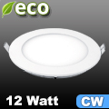 ECO LED panel (kör alakú) 12 Watt - hideg fehér fényű