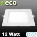 ECO LED panel (négyzet alakú) 12 Watt - természetes fehér