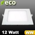 ECO LED panel (négyzet alakú) 12 Watt - meleg fehér fényű