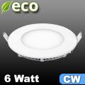 ECO LED panel (kör alakú) 6 Watt - hideg fehér fényű