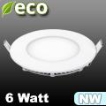 ECO LED panel (kör alakú) 6 Watt - természetes fehér fényű