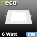 ECO LED panel (négyzet alakú) 6 Watt - hideg fehér fényű