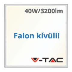 LED panel (600 x 600mm) 40W - természetes fehér, süllyeszthető / falon kívüli