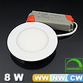 Dimmelhető, állítható színhőmérsékletű LED panel (8 Watt)