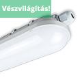 Mennyezeti IP65 LED lámpatest (36W) 1200 mm 4500K Vészvilágító, akkus