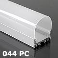 ALP-044PC Aluminium hűtőbordás U profil, LED szalaghoz, opál UV álló bura Kifutó!