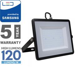 PRO LED reflektor fekete (100W/100°) hideg fehér, 120lm/W, Samsung