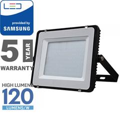 PRO LED reflektor fekete (150W/100°) hideg fehér, 120lm/W, Samsung
