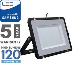 PRO LED reflektor fekete (200W/100°) hideg fehér, 120lm/W, Samsung