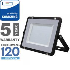 PRO LED reflektor fekete (300W/100°) hideg fehér, 120lm/W, Samsung