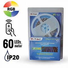 LED szett beltéri: 5 méter RGB+vezérlő+tápegység 5050-60