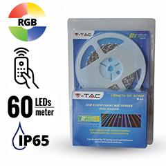 LED szett kültéri: 5 méter RGB+vezérlő + táp. 5050-60