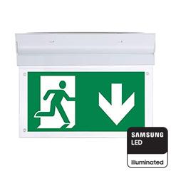 LED kijáratjelző, akkumulátoros, Samsung Chipes (2W) hideg fehér