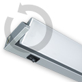Konyhapult világító, forgatható (10W) - hideg fehér Kifutó!