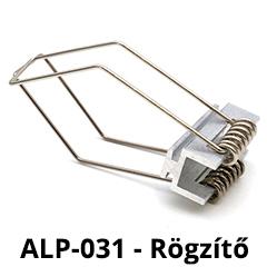 Tartó-, rögzítő elem ALP-031 - Recessed-4 alumínium LED profilhoz, rugós