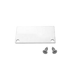 Recessed-8 gipszkartonba süllyeszthető alu profil végzáró (LP308-END) ezüst