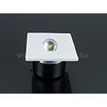 Lépcsőbe építhető LED lámpa 3W - négyzet - meleg fehér