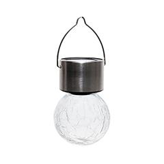 Lightis függő szolár LED lámpa - fehér szín, törött üveg hatású