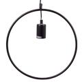 Line-O fém függőlámpa (E27) - fekete színű bura