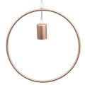 Line-O fém függőlámpa (E27) - pezsgőarany színű bura