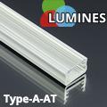 Type-A - Aluminium U profil LED szalagos világításhoz, átlátszó burával