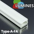 Type-A - Aluminium U profil LED szalagos világításhoz, félig átlátszó burával