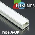 Type-A - Aluminium U profil LED szalagos világításhoz, opál burával