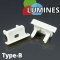 Type-B - Végzáró aluminium süllyeszthető U profilhoz, szürke